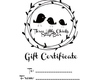 Digital Gift Certificate, Fifty Dollars