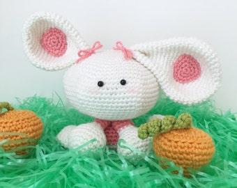 Bunny Crochet Pattern. Rye The Rabbit Amigurumi Crochet Pattern. Rabbit Pattern. Bunny Pattern. Rabbit Downloadable PDF Crochet Pattern