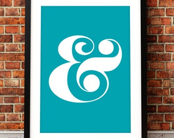 Typographic Ampersand fine art print, ampersand art print, fine art print, typographic print, type art print, typographic art, Ampersand