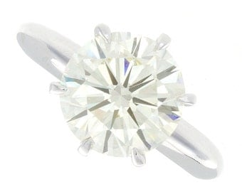 3.01ct Solitaire Platinum Diamond Engagement Ring