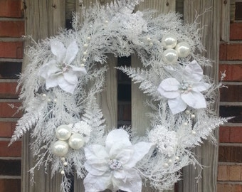 White Christmas/Winter Wreath