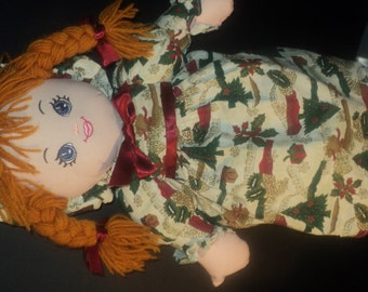 she is made to last. a wonderful christmas rag doll.