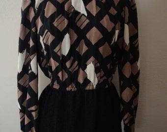 1980s turtle neck vintage dress