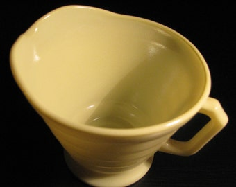 Vintage Milk Glass small pitcher, light green