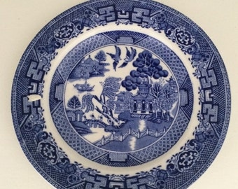 Blue and White Willow Royal Venton Ware Plates