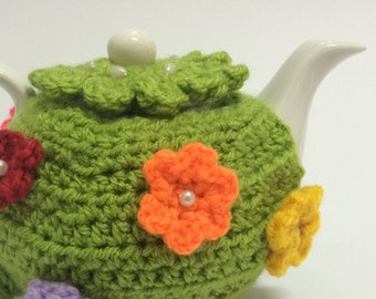 Tea cosie for a small (1/2) cups cozy handmade crochet teapot cover, cosie, cosy