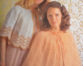 PDF bedjacket bed cape vintage knitting pattern bed jacket dressing jacket pdf INSTANT download 1970s