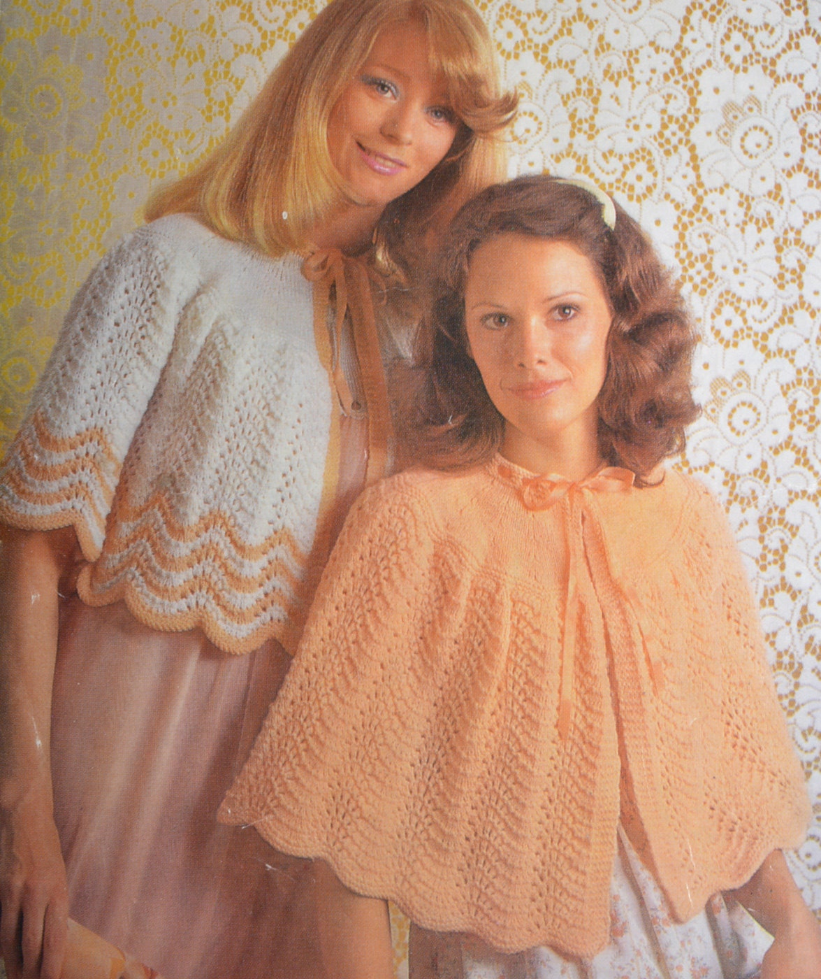 Knitting Pattern Bed Cape : PDF bedjacket bed cape vintage knitting pattern bed jacket