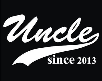 """Uncle Since """"Any Year"""" Custom Black T-Shirt"""