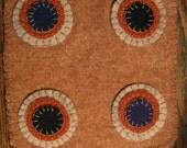 Orange-y Penny Rug
