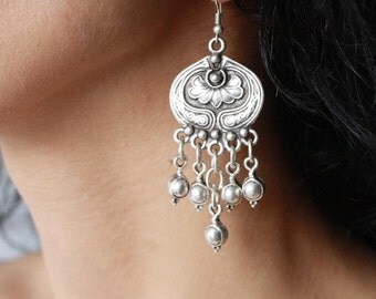 OTTOMAN EARRINGS / / silver plated earring/earrings / Turkish jewelry/boho/Gypsy/Christmas / for her