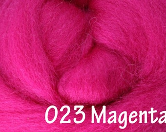MAGENTA 10g NZ Ashford Corriedale Wool Top Silver Roving - Ship from USA