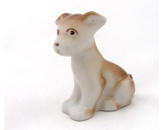 Porcelain figurine dog soviet souvenir home decor soviet vintage