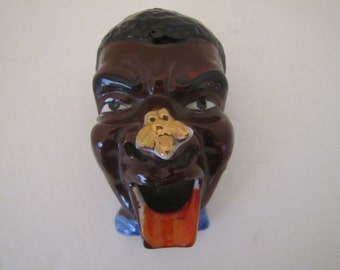 Vintage Ceramic Face Ashtray