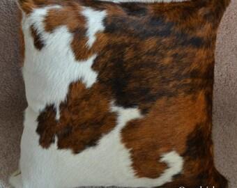 Cowhide Pillow Cover TriColor