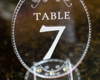 Acrylic Laser Engraved Table Numbers