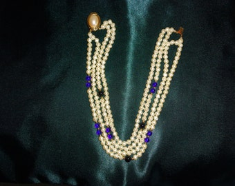 Vintage faux  pearls 4 strands
