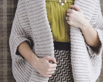 CROCHET RIBBED SHRUG