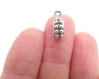 13 Bail Beads Fit European Bracelet Silver Tone 13 x 8mm - BD13