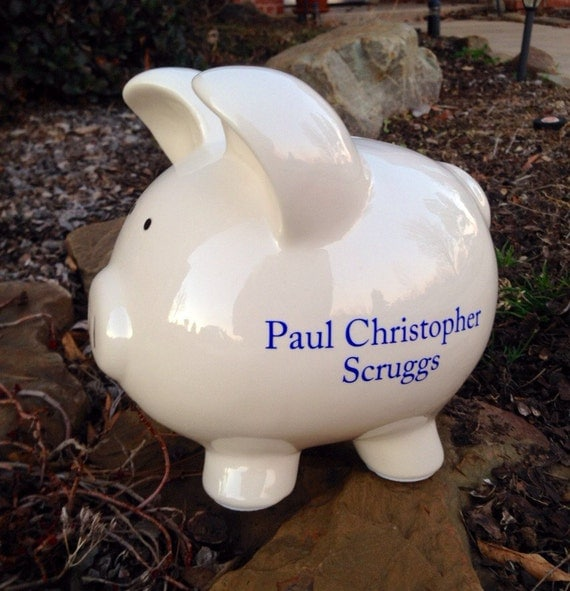 Items Similar To Extra Large Personalized Piggy Bank Or