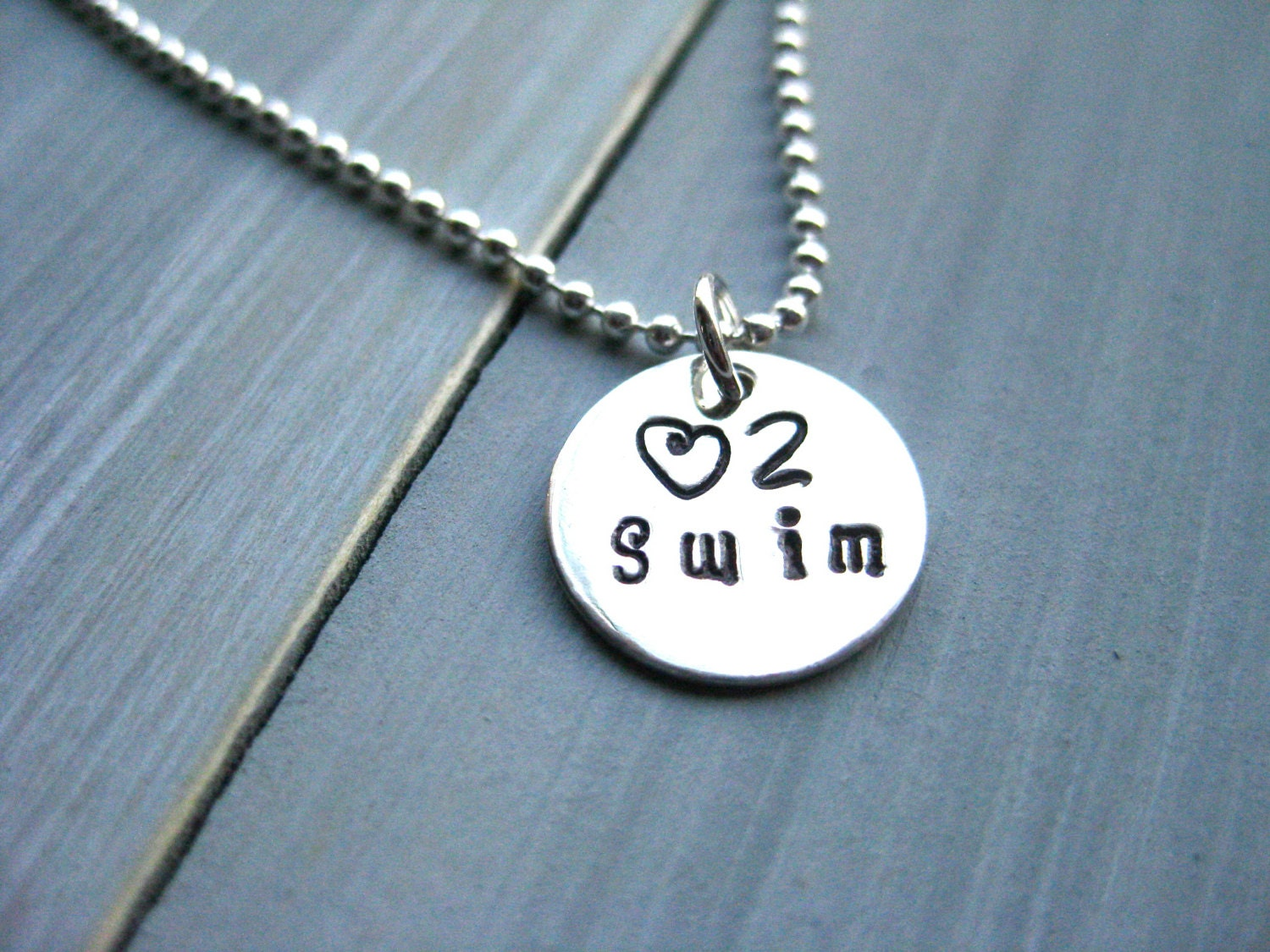 swimmer jewelry swim necklace sterling silver swimmer necklace personalized 2039