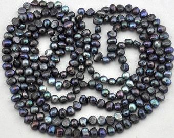 1 Strand 238pcs Freshwater Pearl,gray Pearl Beads,Loose Pearl beads 5.0 - 7.0 mm Full Strand,Gemstone Beads--- J0117