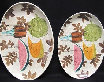 Vintage Red Wing Tampico Futura Platters 15 inch and 13 inch