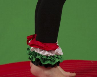 Christmas Leggings, Girls Christmas tights, Girls Accessories, Holiday tights, ruffled leggings  DIY  Fun Fashion Leggings