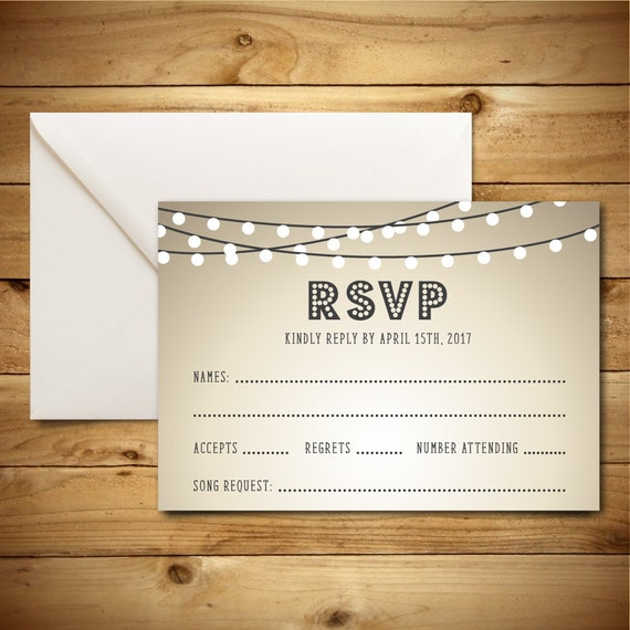 Items similar to RSVP DIY Wedding