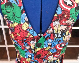 Vest made from Marvel material....