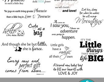 Newborn Collection... 16 Quote Overlays