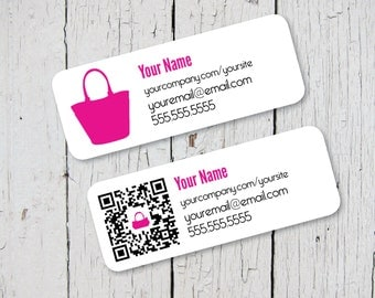 Brochure and Catalog Label design QR Code Option  - {Printable for Avery 8160/5160}