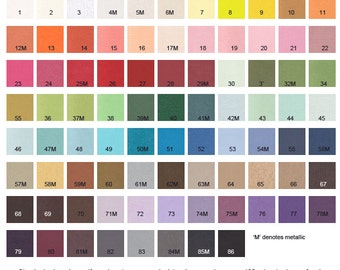 CZ Invitations Color Chart