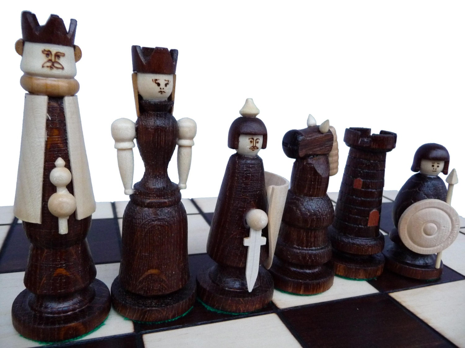 Unique Handmade Wooden Chess Set 55x55cm Gift By Stylishchess