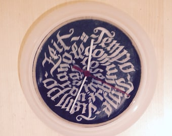 Calligraphy Time Clock