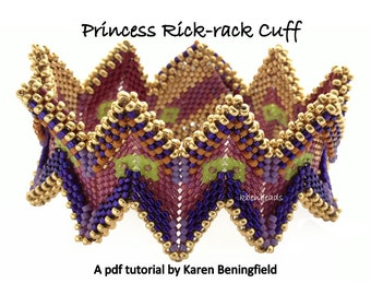 Princess Rick-Rack Cuff tutorial