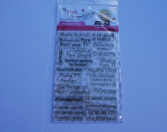 My Pink Stamper Spanish Sayings stamp set.