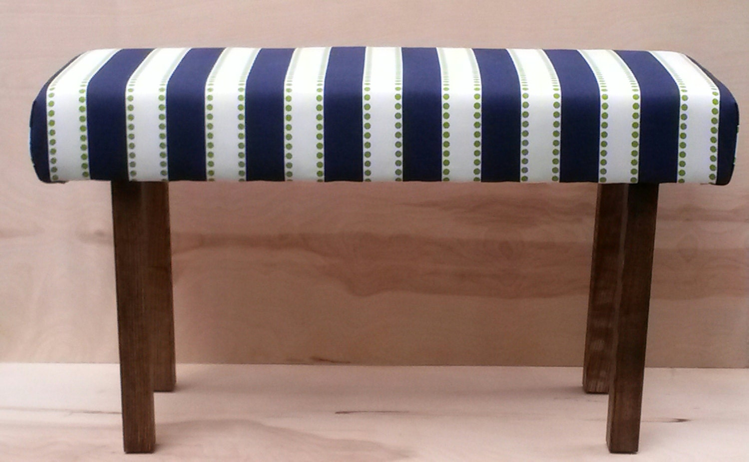 Free Shipping Upholstered Bench Navy And Green
