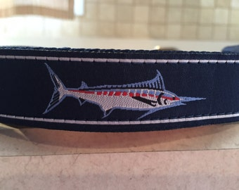 Blue Marlin Large and Medium dog collar