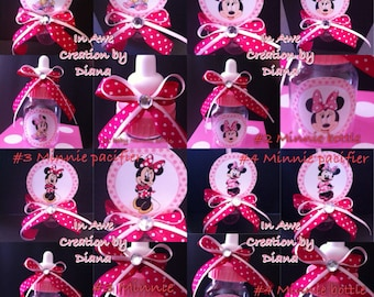 minnie mouse baby shower bottle and pacifier minnie baby shower baby