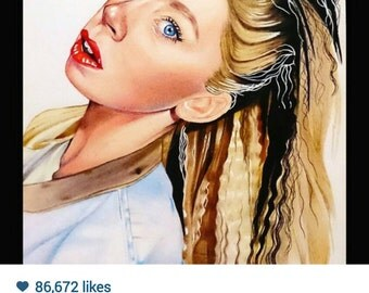 Grav3yardGirl - Colour Pencil Drawing / 8x12""
