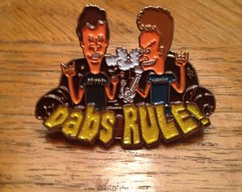 Beavis and Butthead Dabs Rule Hat Pin SlabLab Pins 710 Lapel Pin Beavis & Butthead