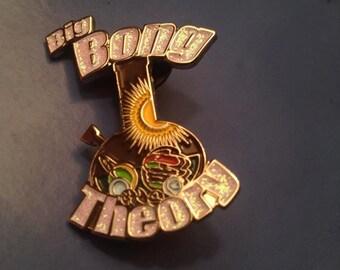 Big Bong Theory Hat Pin Pot Pin Galaxy BBT Lapel Pin