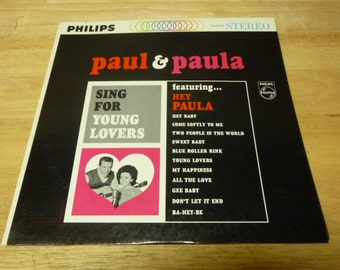 PAUL and PAULA Sing For Young Lovers SLEEVE Record Cover