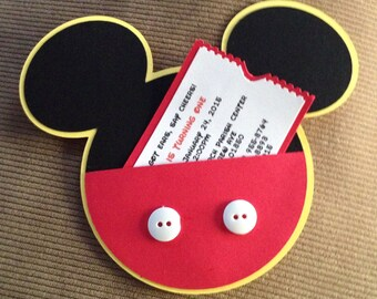 Mickey Mouse Birthday Invitations