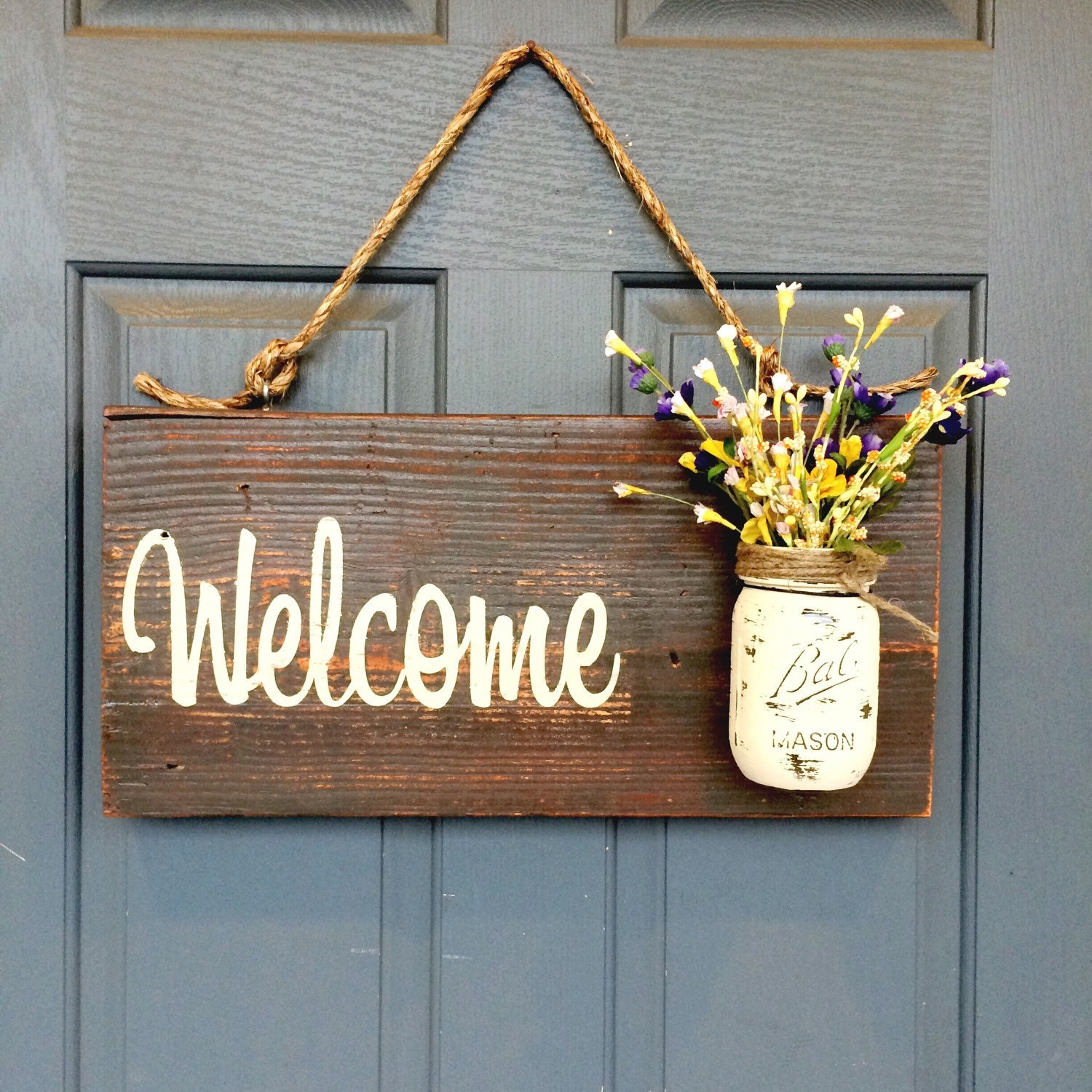 Rustic Outdoor Brown Welcome Outdoor Welcome Sign by ...