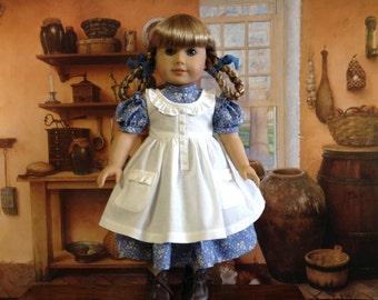 American Girl Blue and White Prairie Dress
