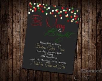 Merry & Bright Christmas Invitation