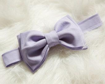 Pastel Lavender Bow Tie-You Choose Size