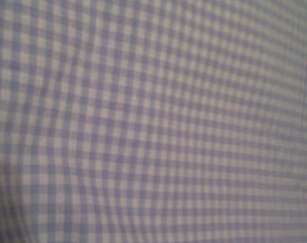 2.66 yards Purple Gingham Fabric